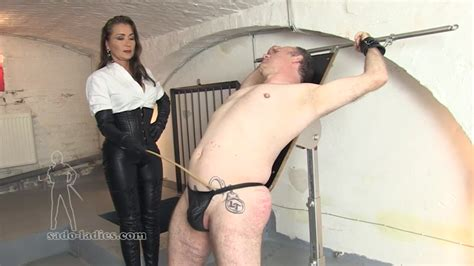 Femdom caning clips