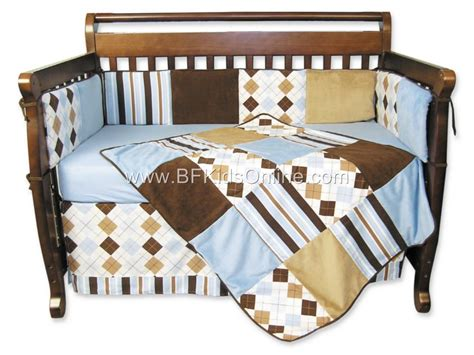 Brown And Blue Crib Bedding Sweet Safari Blue Brown Zebra Baby Boy Crib Bedding Set
