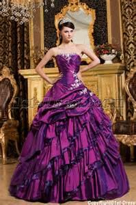 chic purple long corset princess quinceanera dress 1st