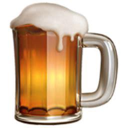 drink emoji iphone beer mug emoji u 1f37a