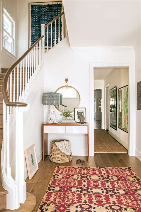 best entry rug modern traditional entryway white walls wood floors