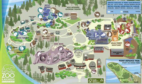 seattle zoo map point defiance zoo aquarium tacoma metro parks