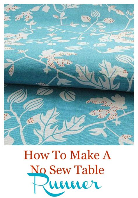 How To Sew A Table Runner by No Sew Table Runner