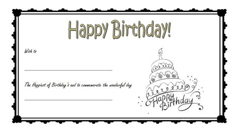 Promotion Card Template Free Word by Birthday Gift Certificate 3 The Best Template Collection