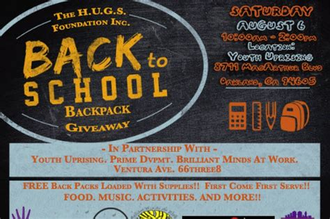 fundraiser by chris higgenbotham back to school backpack giveaway - Oakland A S Backpack Giveaway
