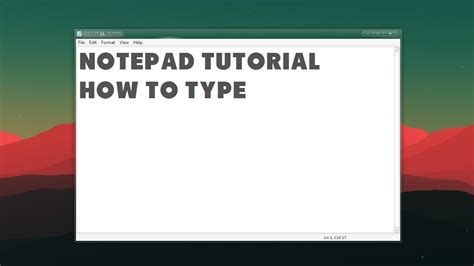 notepad tutorial how to type youtube