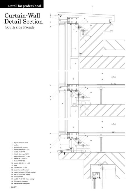 curtain wall section 1000 images about architecture details on pinterest