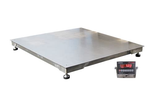 floor scale special with indicator 900 00 op 916ss 4x4 5 stainless steel ntep floor scale