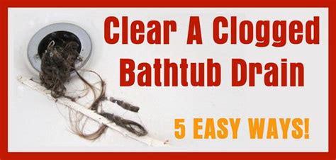 my bathroom tub is clogged best 25 clogged bathtub ideas on pinterest