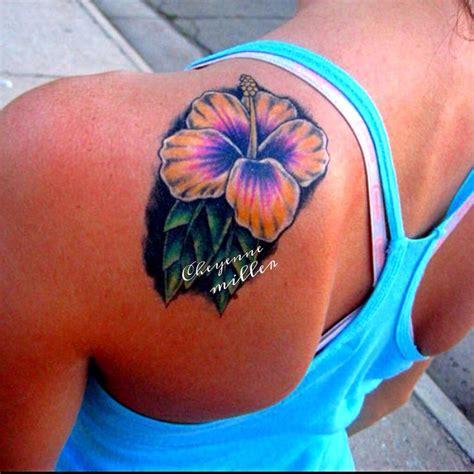 flower tattoo on shoulder and back 22 hibiscus tattoos on back shoulder