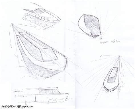 how to draw a boat in perspective drawing lessons june 2013