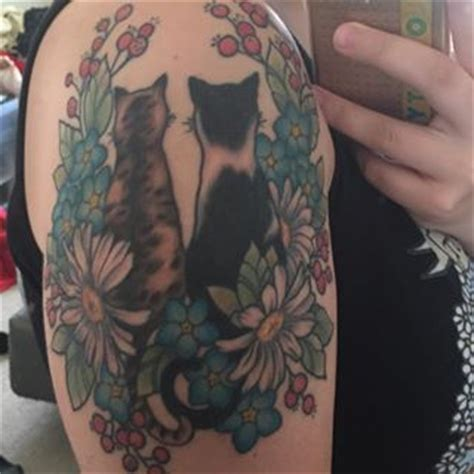 couple kitty tattoo 28 classy cat tattoos every cat lover will adore cats