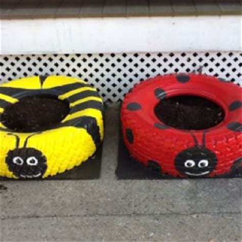 How To Paint Tires For Planters by For Container Garden And For On