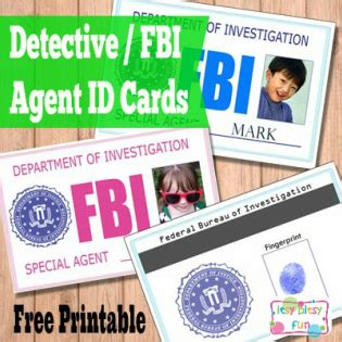 detective id card template free printable licenses and id cards for itsy bitsy