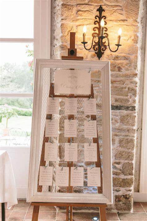 photo table mariage grand cadre en bois grillag 233 id 233 al plan de table mariage
