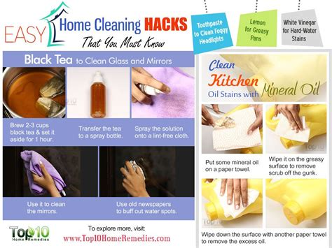 household hacks 10 easy home cleaning hacks that you must know top 10