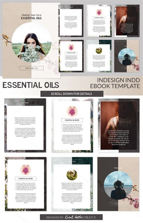 Free Indesign Book Template Indd 187 Designtube Creative Design Content Free Ebook Template Indesign