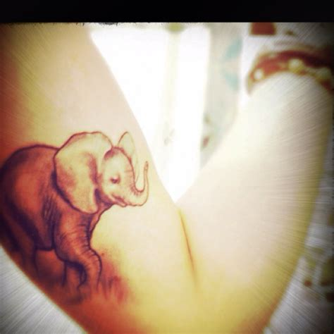 baby elephant tattoo baby elephant