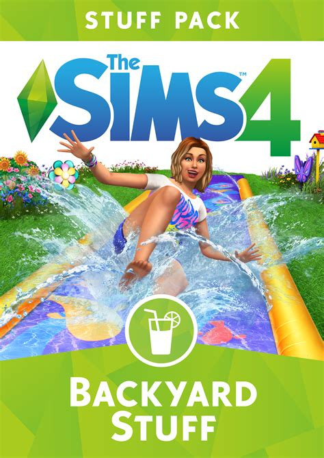 backyard stuff the sims 4 backyard stuff official box art logo and