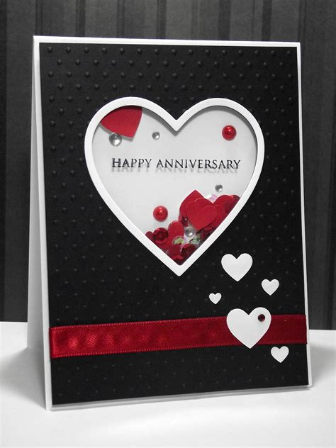 how to make wedding anniversary cards 2 my inky corner shaker anniversary card