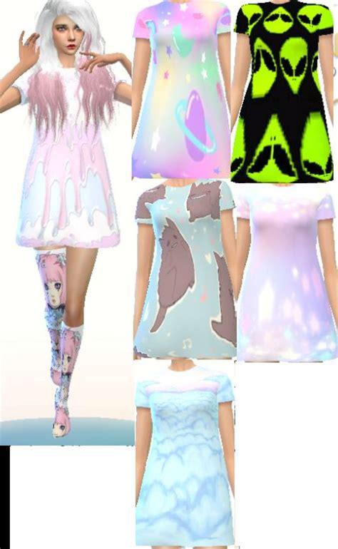 for my sims sunset caramel kawaii mini dress kawaii sims 4 clothes teen elder female download here new
