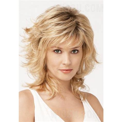 haircut for wispy hair shaggy layered mid length wispy bang haircut synthetic