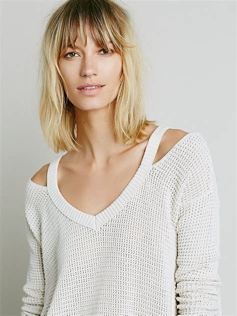 moonshine v neck pullover at free people clothing boutique free people moonshine v neck pullover shops free people