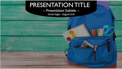 school supplies education powerpoint template school supplies powerpoint template free free school