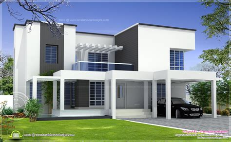 vastu based box type modern home design home kerala plans
