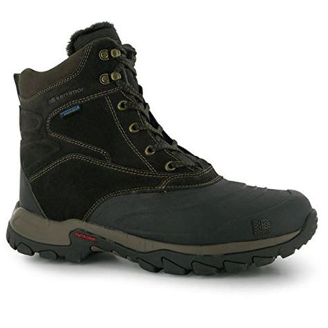 snow mens boots karrimor mens calgary snow boots winter shoes waterproof