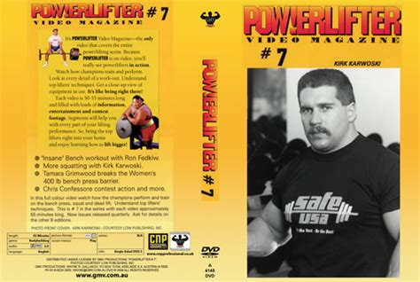 chris confessore bench press powerlifter video magazine issue 7 gamm 4145dvd 22