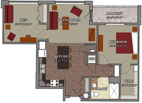 one bedroom one bathroom apartments 1 bedroom 1 bathroom den style c1 lilly preserve apartments