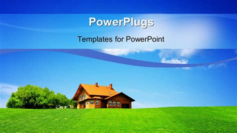 house themes for powerpoint powerpoint template a brown colored house on a plain