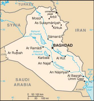 rivers in iraq map iraq st
