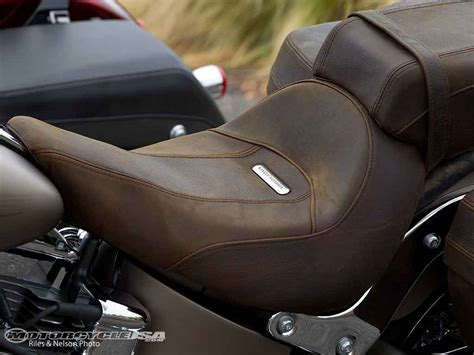 distressed brown leather motorcycle seat 2012 harley davidson cvo softail convertible photos