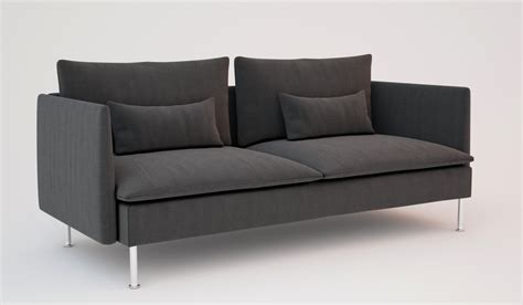 couch description ikea soderhamn sofas 3d models cgtrader com