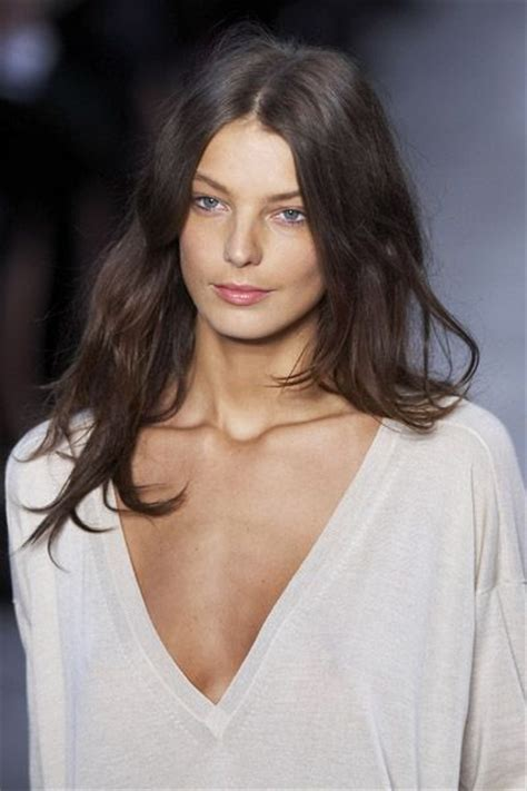 Does Daria Werbowy Has Long Layers In Her Haircut | 17 best images about brunette brown auburn chestnut