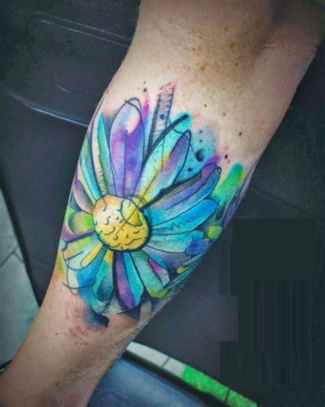 watercolor tattoo flower sleeve images designs