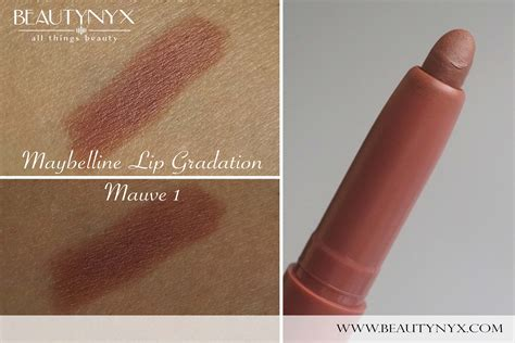 Maybelline Gradation Lip maybelline lip gradation mauve 1 review swatches