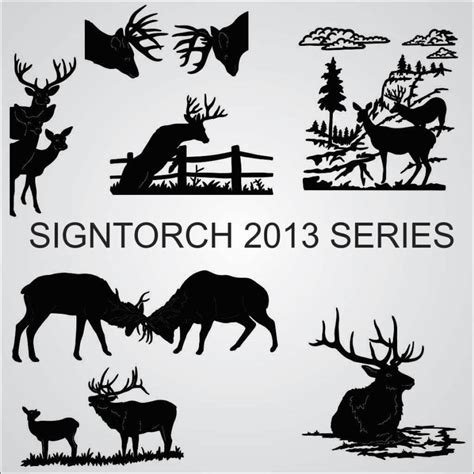 series signtorch turning images  vector cut paths