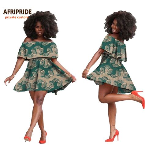 2018 summer afripride custom fashion dress for above knee length cotton tank dress