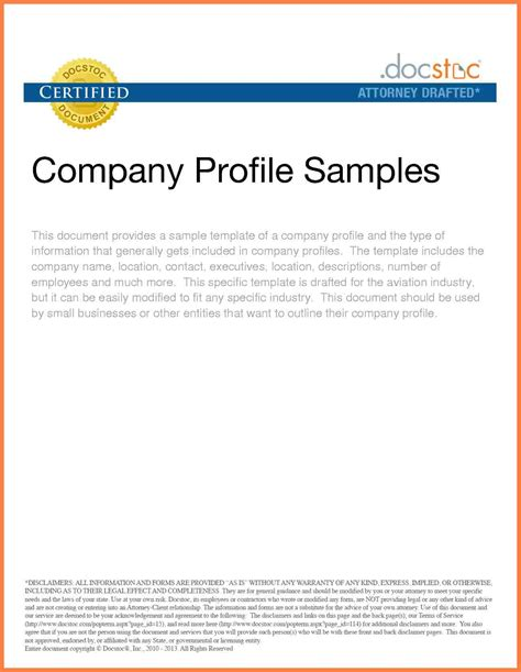 business profile on letterhead 8 exles of company profile template company letterhead