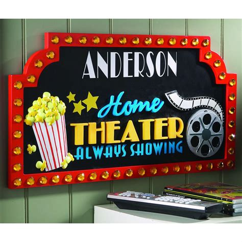 personal creations 174 personalized 3d home theatre sign