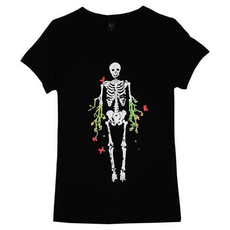 Jaket Sweater Simple Skeleton s skeleton pattern simple sleeve plain t shirt