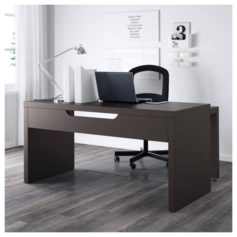 Desk With Pull Out Work Surface by Malm Desk With Pull Out Panel Black Brown 151x65 Cm