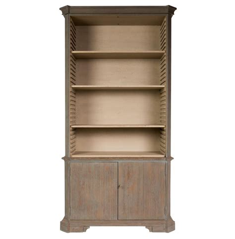 Country Bookcases fresca country rustic grey wooden bookcase kathy kuo home