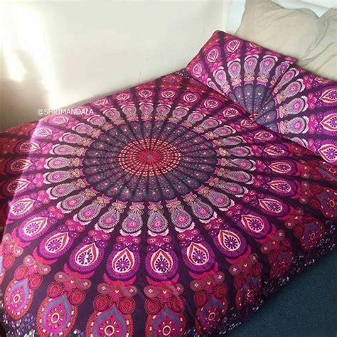 mandala bedding pink purple mandala bedding bed sheet set with two pillow covers