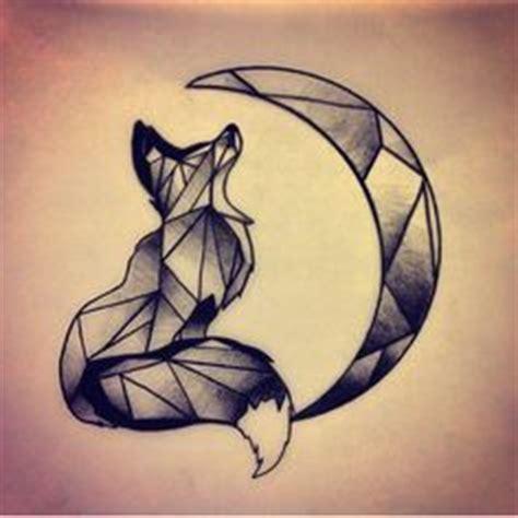 geometric tattoo wiki geometric tattoo wolf and moon instead of fox
