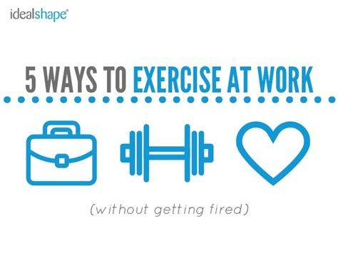 5 ways to exercise at work without getting fired