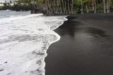 punaluu black sand beach why is there sand on beaches 187 science abc